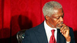 L'ancien secrétaire général de l'ONU, Kofi Annan, à Nairobi, le 29 janvier 2008. (SIMON MAINA / AFP)