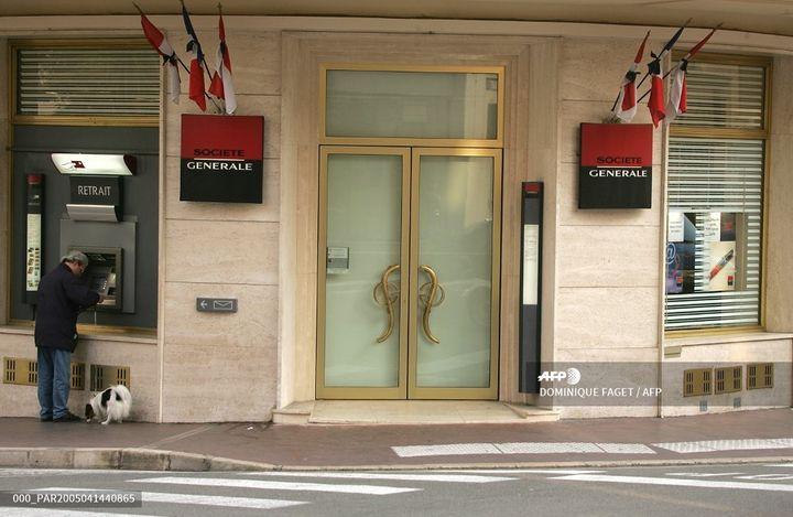 Une agence de la Société Générale à Monaco, le 14 avril 2005. (DOMINIQUE FAGET / AFP)