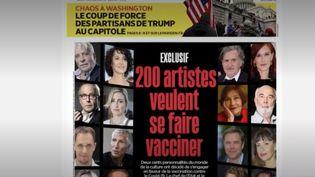 Des personnalités s'engagent en faveur du vaccin contre le Covid-19. 200 acteurs du monde de la culture ont ainsi signé une tribune avec l'espoir de sortir de la crise. (FRANCE 2)