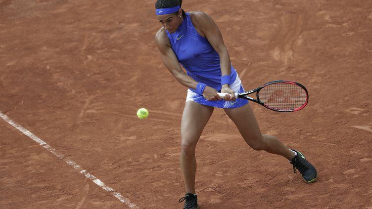 Caroline Garcia est au 3e tour de Roland-Garros (THOMAS SAMSON / AFP)