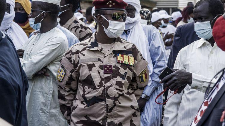 Le général quatre étoiles Mahamat Idriss Déby, fils du président tchadien Idriss Déby Itno, a pris la présidence du Conseil Militaire de Transition mardi 20 avril 2021. (MARCO LONGARI / AFP)