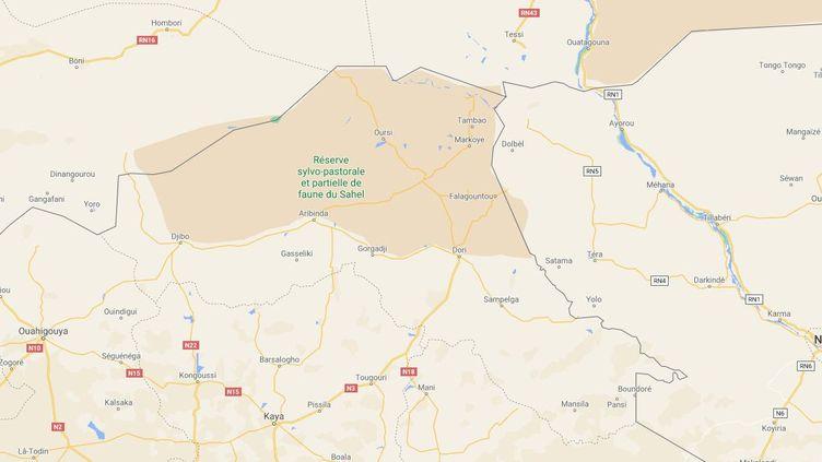 Quarante-sept personnes ont été tuées dans une probable attaque jihadiste, mercredi 18 août à proximité de Gorgadj, dans le nord du Burkina Faso. (GOOGLE MAPS)