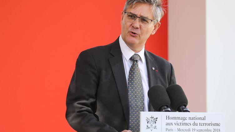 Guillaume Denoix de Saint Marc,directeur général de l'Association française des victimes de terrorisme, le 19 septembre 2018. (LUDOVIC MARIN / POOL / AFP POOL)