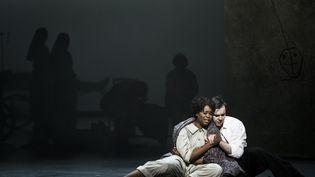 "Pretty Yende et Benjamin Bernheim dans ""Manon"" le 24 février 2020. (JULIEN BENHAMOU)"