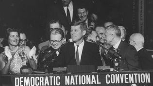 John F. Kennedy, lors de son discours à la Convention nationale des démocrates de juillet 1960. (FRANCIS MILLER / THE LIFE PICTURE COLLECTION)