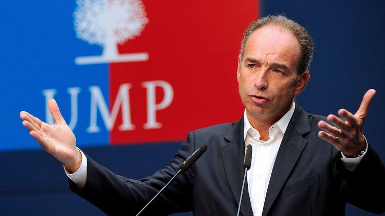 Le président de l'UMP, Jean-François Copé, dans un discours au Touquet (Pas-de-Calais), le 8 septembre 2013. (PHILIPPE HUGUEN / AFP)