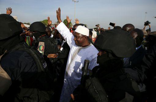 Le président gambien Adama Barrow à Banjul (Gambie) le 26 janvier 2017. (REUTERS - Afolabi Sotunde)