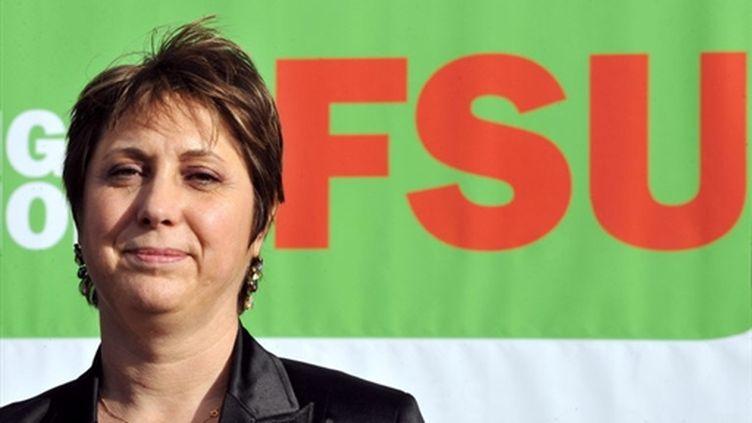 La nouvelle secrétaire générale du FSU, Bernadette Groison (AFP - PHILIPPE HUGUEN)