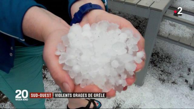 Météo : violents orages de grêle dans le Sud-Ouest