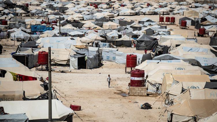 Un camp de réfugiés àAl-Hol (Syrie), le 8 août 2019. (DELIL SOULEIMAN / AFP)