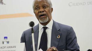 L'ancien secrétaire général de l'ONU, Kofi Annan, le 24 mai 2018 à Mexico. (GUILLERMO GRANADOS / NOTIMEX / AFP)