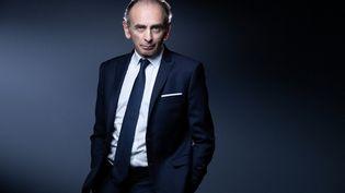 Le journaliste et éditorialiste Eric Zemmour à Paris, le 22 avril 2021. (JOEL SAGET / AFP)