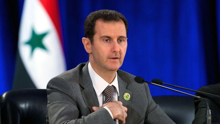 Le président syrien à Damas, la capitale syrienne, le 8 mars 2014. (AY-COLLECTION / SIPA)