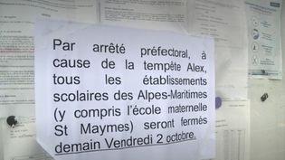 Tempête Alex : en vigilance rouge, les Alpes-Maritimes ont fermé les écoles et coupé les transports (FRANCEINFO)