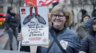 Manifestation pou rl'égalité femmes/hommes, le 8 mars 2016. (MAXPPP)