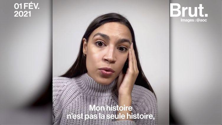 """VIDEO. """"Je suis une rescapée d'une agression sexuelle"""" : le témoignage d'Alexandria Ocasio-Cortez (BRUT)"""