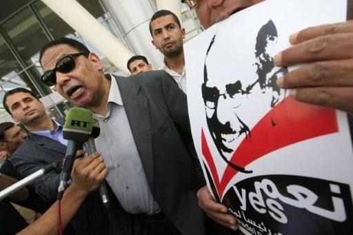 Alaa El Aswany au Caire (19 février 2010)  (KHALED DESOUKI / AFP)