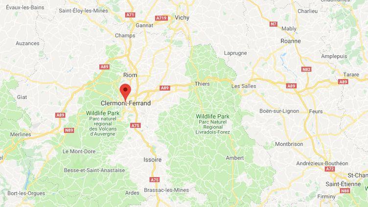 La ville de Clermont-Ferrand dans le Puy-de-Dôme. (GOOGLE MAPS)