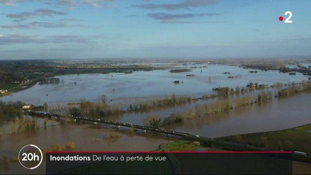 Inondations : dans le Lot-et-Garonne, de l'eau à perte de vue