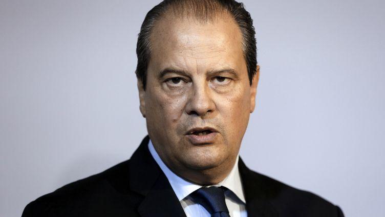Le premier secrétaire du PS,Jean-Christophe Cambadélis, lors d'une conférence de presse, à Paris, le 23 octobre2014. (PATRICK KOVARIK / AFP)