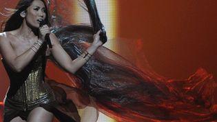 La chanteuse Angunn est arrivée à la 22ème place du concours de l'Eurovision 2012  (VYACHESLAV OSELEDKO / AFP)