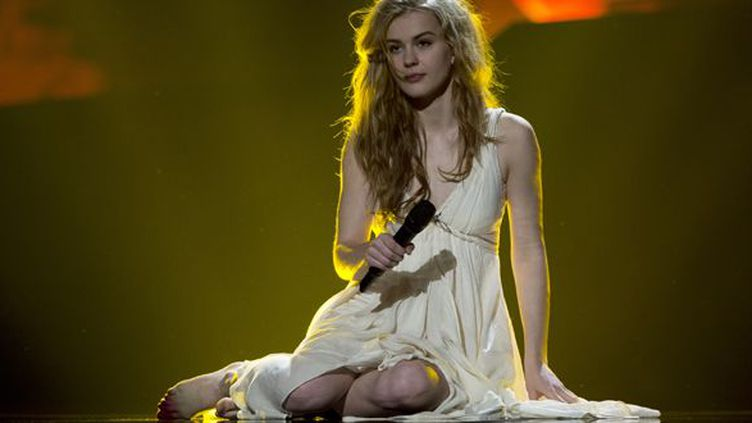 La Danoise Emmelie de Forest part favorite à l'Eurovision 2013.  (John MacDougall / AFP)