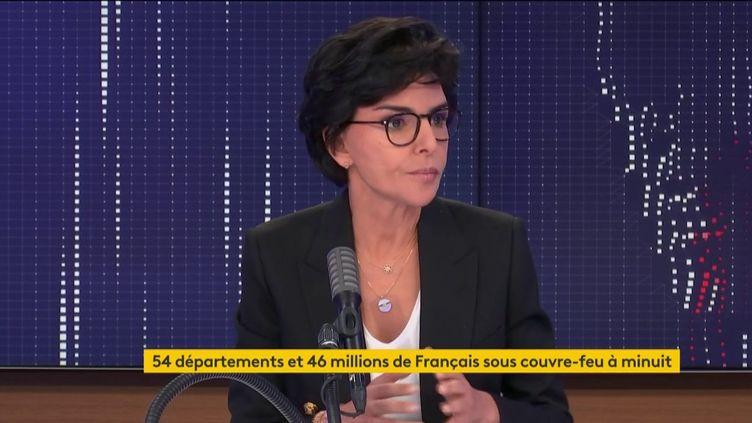 """Rachida Dati, maire du 7e arrondissement de Paris et ancienne ministre de la Justice, était l'invitée du """"8h30 franceinfo"""" le 23 octobre 2020. (FRANCEINFO / RADIOFRANCE)"""