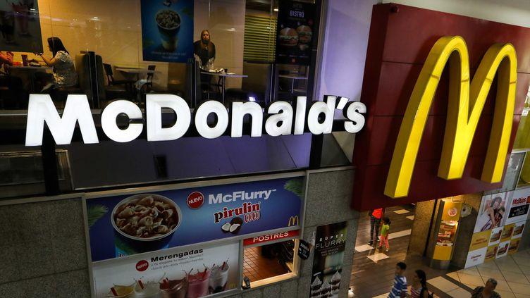 L'enseigne Mcdonald's.  (Cristian Hernández/EPA/Newscom/MaxPPP)