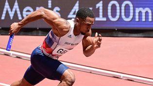 Le sprinter britannique Chijindu Ujah a vu son échantillon B confirmer le résultat du premier test antidopage. (JAVIER SORIANO / AFP)