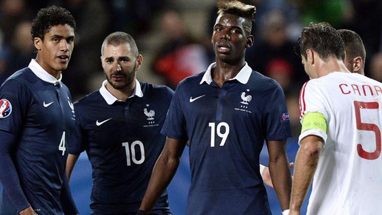 Le trio français Varane, Benzema, Pogba face à l'Albanie