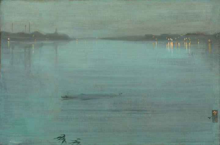 """James Abbott McNeill Whistler, """"Nocturne en bleu et argent : les lumières de Cremorne"""", 1872. Tate, Londres, legs d'Arthur Studd en 1919  (Tate 2017. Photo : Joe Humphrys)"""