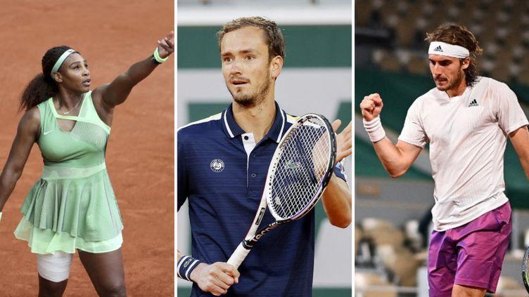 Serena Williams, Daniil Medvedev, Stefanos Tsitsipas sont en lice pour les huitièmes de finale dimanche. (AFP)