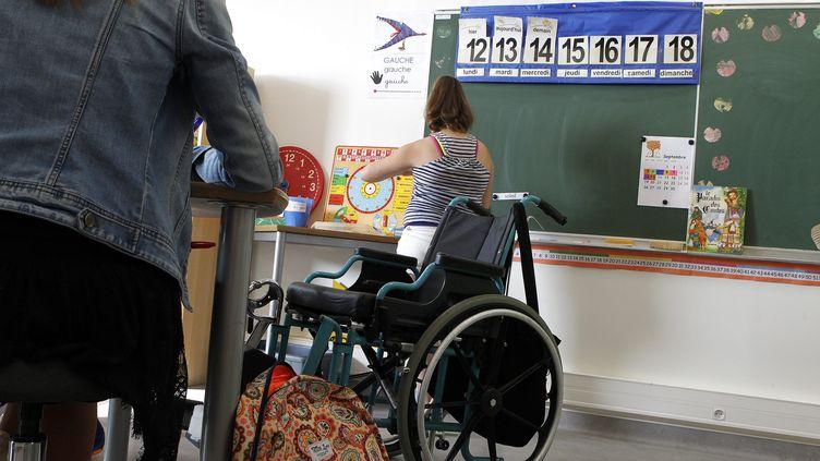 Une classe aménagée pour des enfants malades ou handicapés à l'institut Pierre de Palavas, le 13 septembre 2016. (ALEX BAILLAUD / MAXPPP)