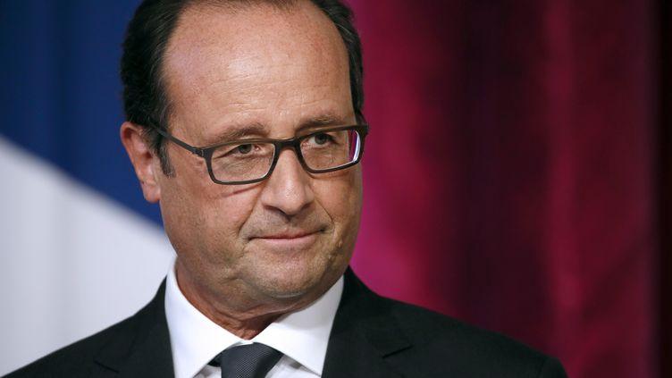 François Hollande, le 9 septembre 2014 à l'Elysée (Paris). (PATRICK KOVARIK / AFP)