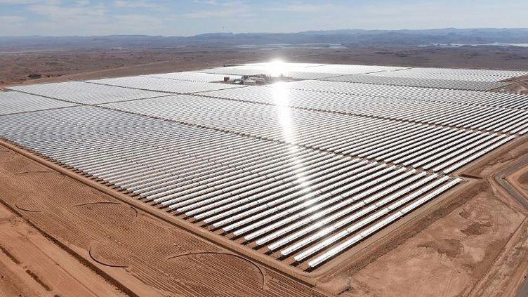 Noor 1, inauguration de la première phase de la centrale solaire de Ouarzazate (Maroc le 4 février 2016). (AFP/ Fadel Senna)