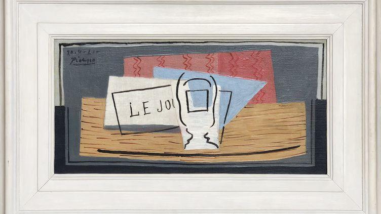 La toile de PicassoNature Morte, 1921, Huile sur toile, 22,9 cm x 45,7 cm (Succession Picasso, Paris, 2019)