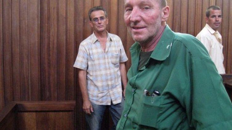 Patrice Faye, au tribunal, le 19 septembre 2011. (ESDRAS NDIKUMANA / AFP)