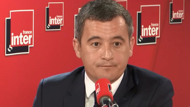 Gérald Darmanin invité de France Inter lundi 1er avril. (FRANCEINFO / RADIOFRANCE)