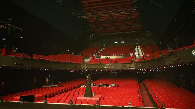 L'Olympia vide, à Paris, en mai 2020. (BERTRAND GUAY / AFP)