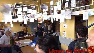 Des militants identitaires saccagent le local d'une association de Montpellier (Hérault), le 30 juin 2017. (DR)