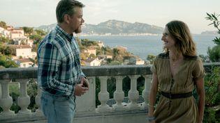 """Matt Damon (Bill) et Camille Cottin (Virginie) dans """"Stillwater"""" (2021) (JESSICA FORDE / FOCUS FEATURES / LLC)"""