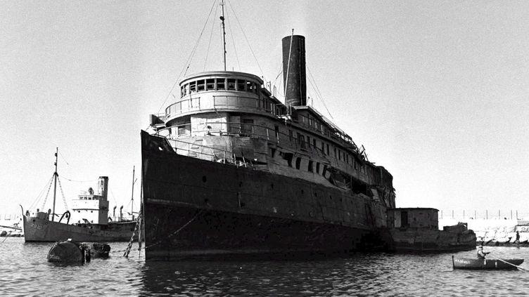 Photo d'archive du bateau L'Exodus. (COHEN FRITZ / EPA / ISRAELI GOVERNMENT)