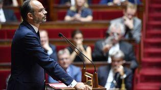 Edouard Philippe à l'Assemblée nationale, le 31 juillet 2018. (GERARD JULIEN / AFP)