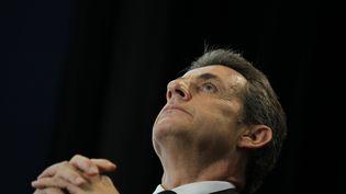 Le président de l'UMP, Nicolas Sarkozy, le 26 mai 2015, lors de son meeting au Havre. (CHARLY TRIBALLEAU / AFP)