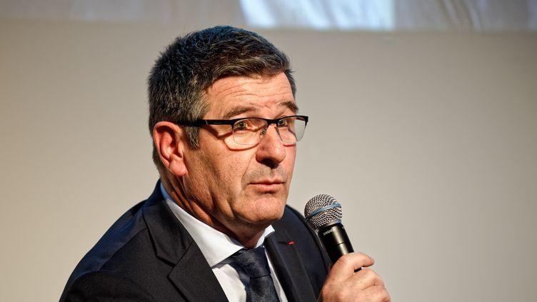 Le maire de Trèbes Eric Menassi le 30 novembre 2019 à Paris (photo d'illustration). (DANIEL PIER / NURPHOTO)