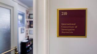 Dans les locauxde l'ICIJ à Washington. (JIM WATSON / AFP)