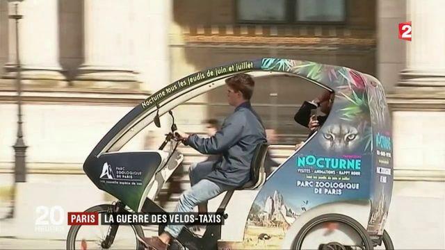 Paris : la guerre des vélos-taxis