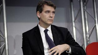Arnaud Montebourg au sommet de l'économie, le 4 décembre à Paris. (MAXPPP)