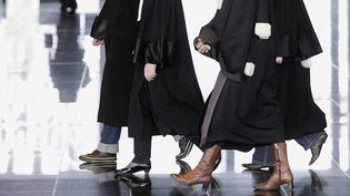 Des avocates, à Nantes, le 4 février 2011. (JEAN-SEBASTIEN EVRARD / AFP)