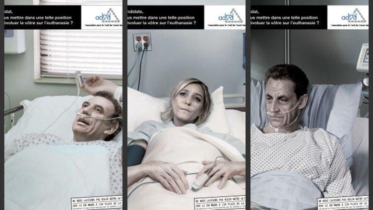 L'affiche de la campagne de l'ADMD. (AMDM)